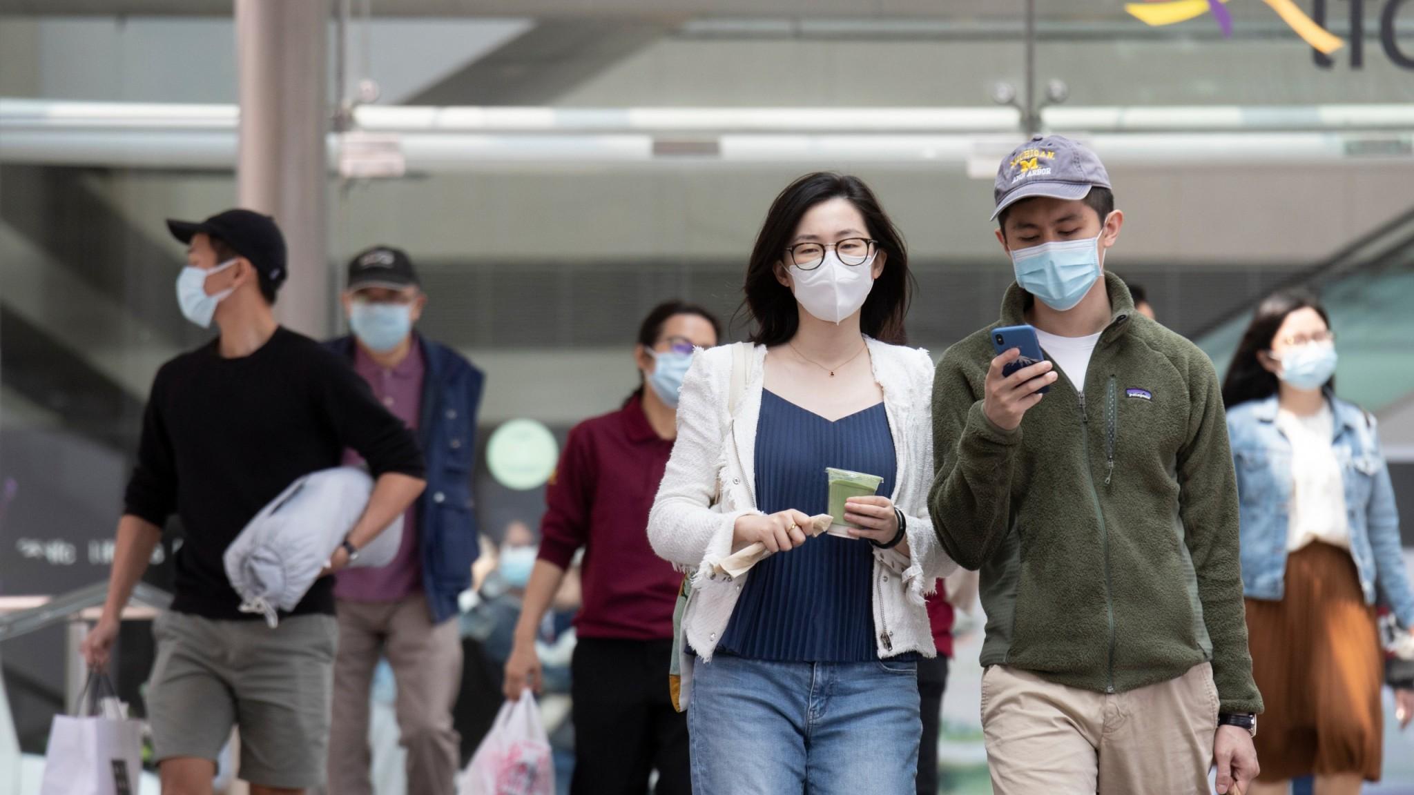 Hong Kong citizens on the street
