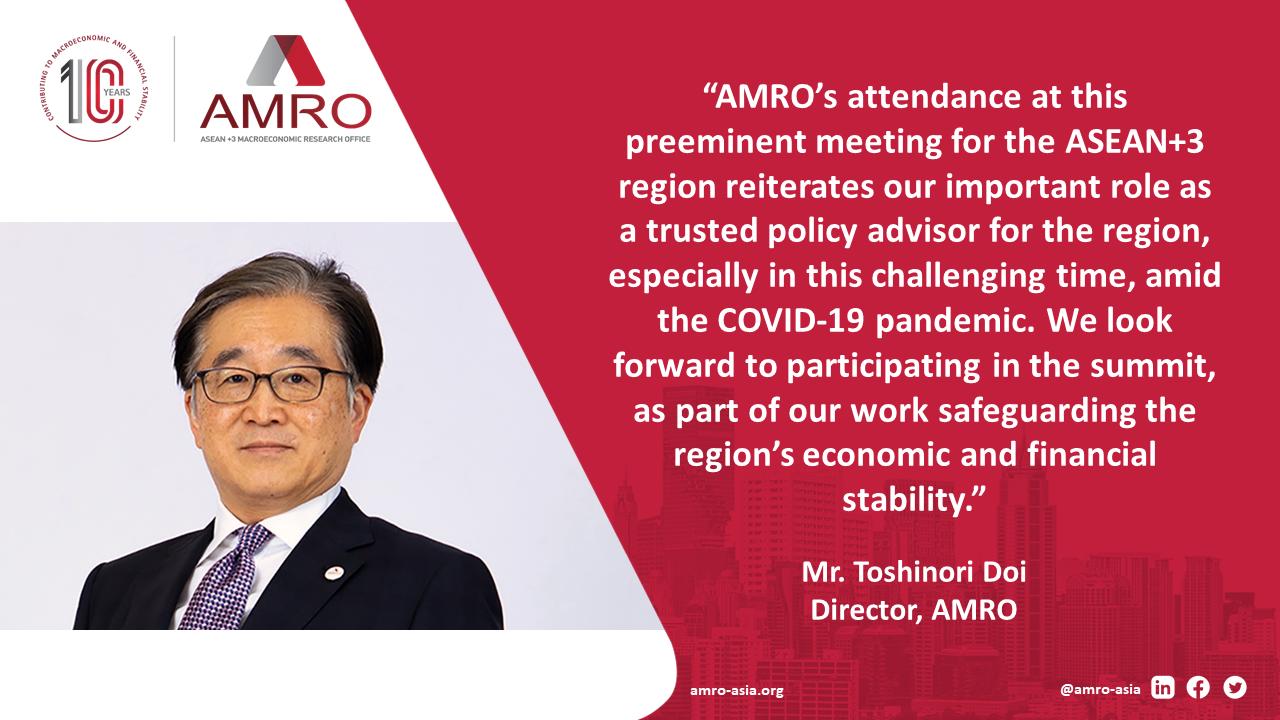 AMRO at ASEAN+3 Leaders' Summit 2021