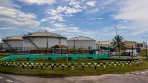 Oil storage tanks in Brunei